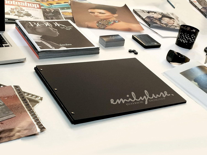 11x14 Landscape Matte Black Portfolio with Black Hinges Portfolio book Engraving services are not included. Portfolio Presentation Screw post portfolio