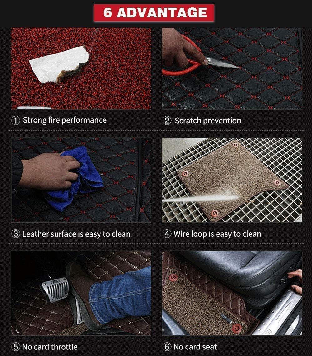 Maite Custom Car Floor Mat Fit for LEXUS IS-C (2door) 2008-2013 Full Surrouded XPE Leather Waterproof Carpets Mats Gray