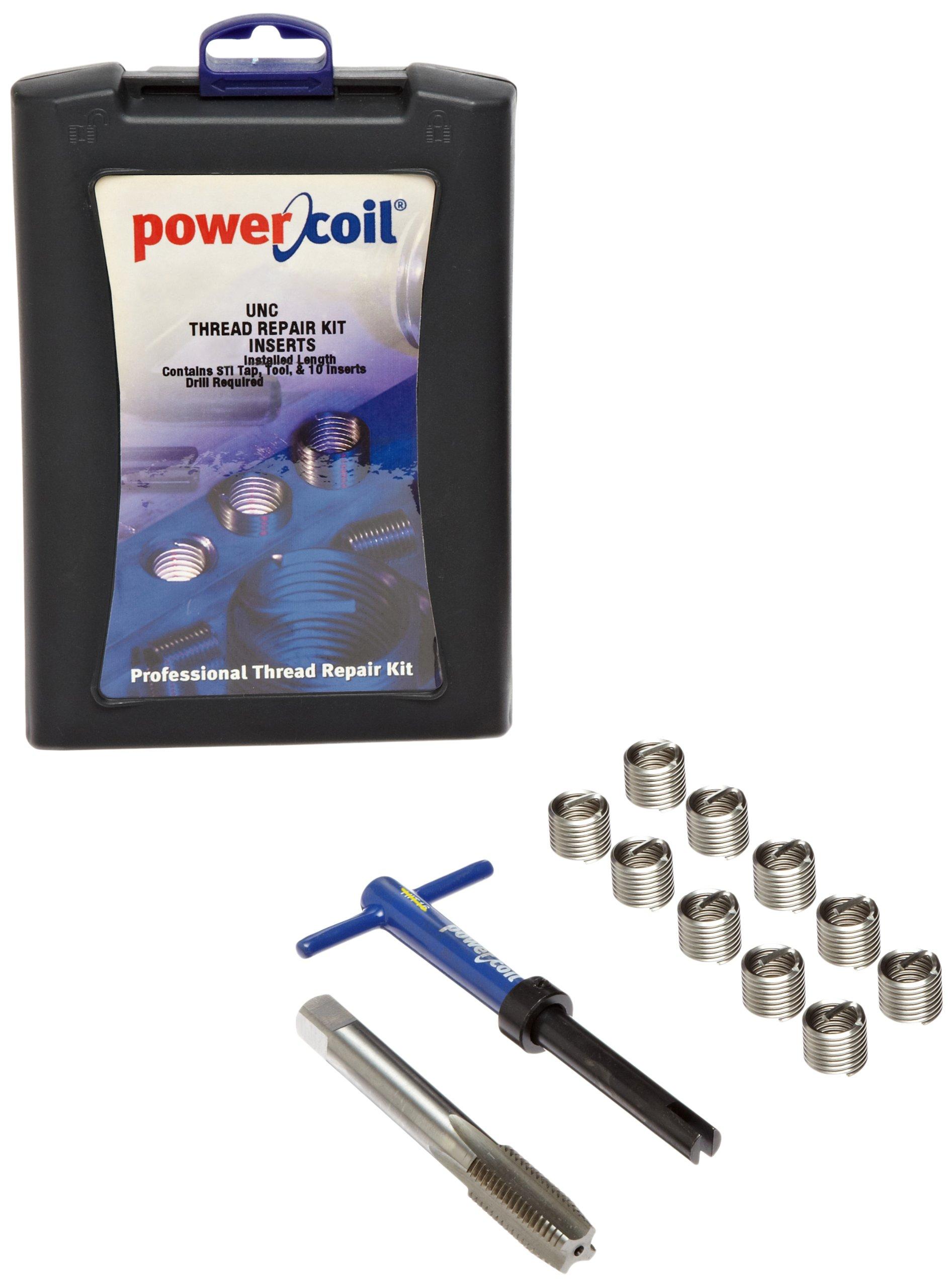 PowerCoil 3532-9/16K Free Running Coil Threaded Insert Kit, 304 Stainless Steel, 9/16''-12 Thread Size, 0.844'' Installed Length