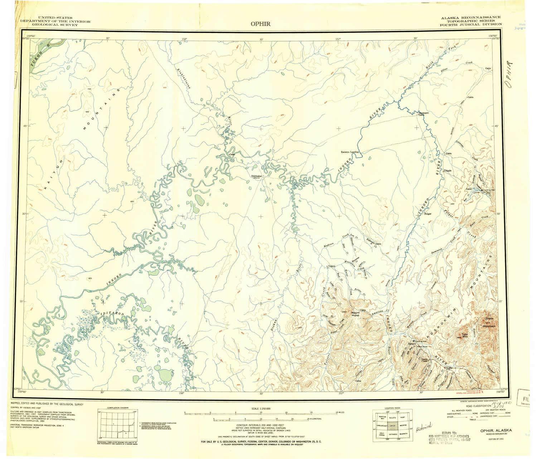 Amazon com : YellowMaps Ophir AK topo map, 1:250000 Scale, 1 X 3