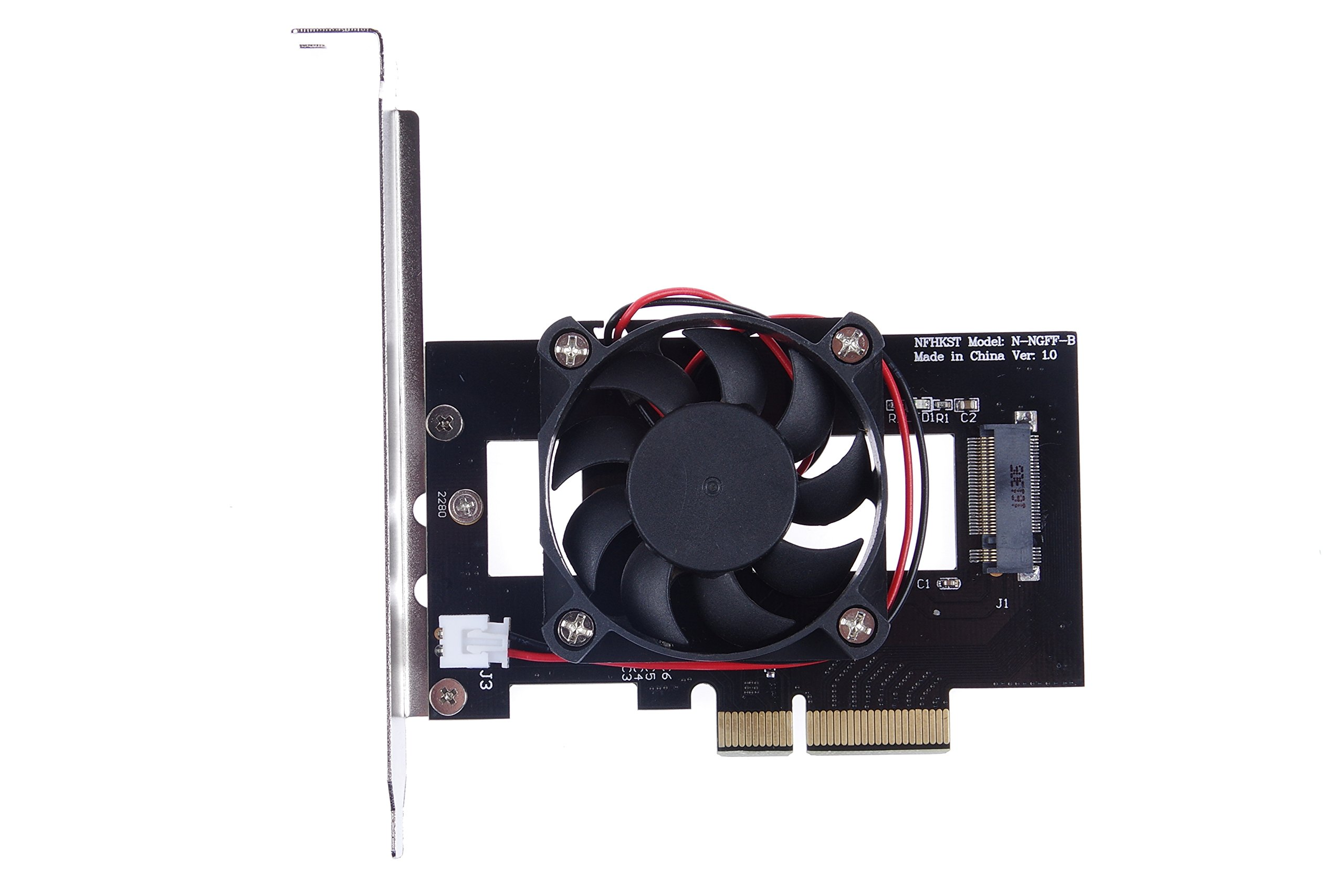 KNACRO PM961 Intel 600P M.2 NGFF SSD to PCIe x4 Riser card With cooling fan No driver required