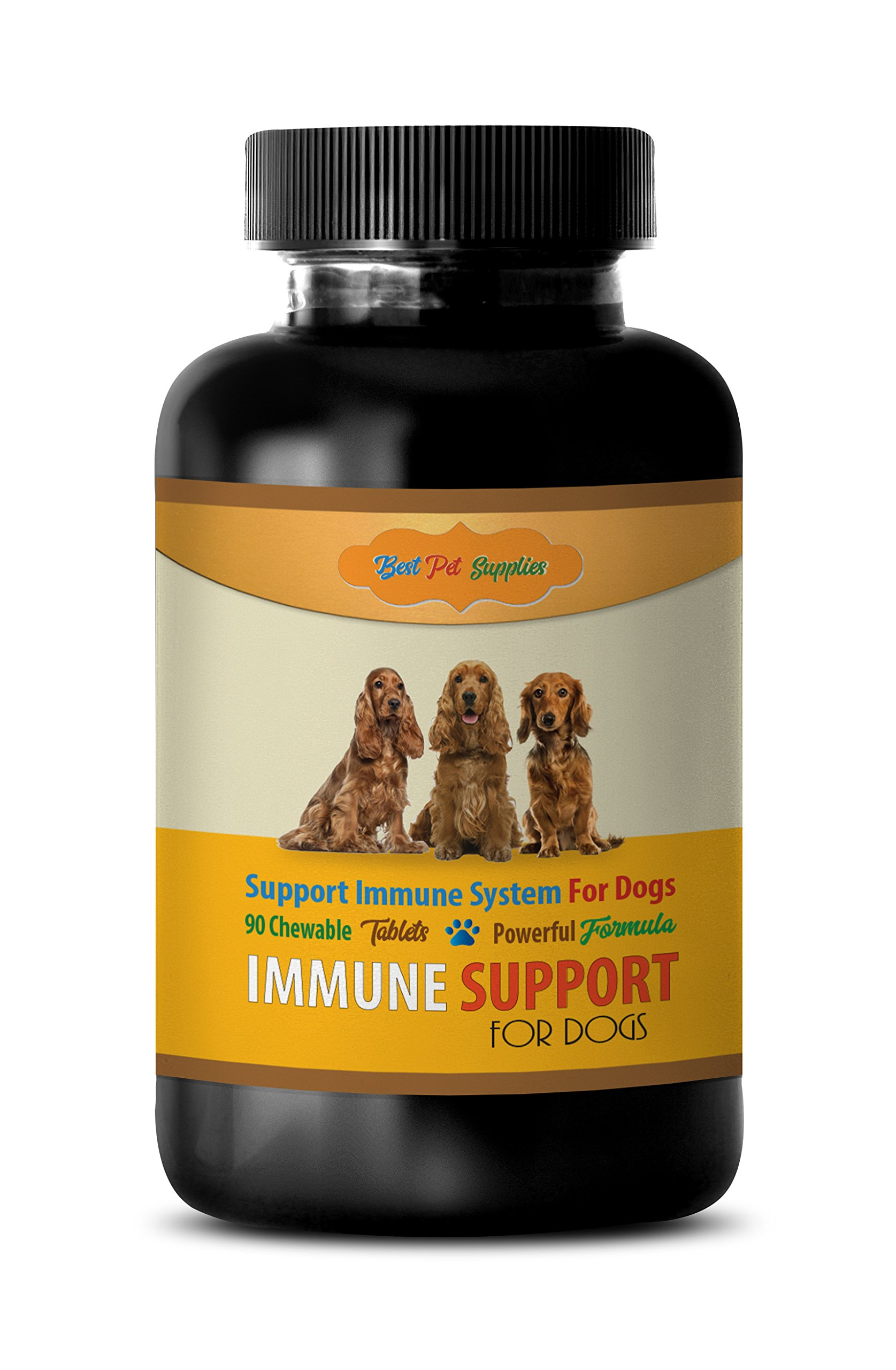 elderly dog supplement - POWERFUL IMMUNE SUPPORT FOR DOGS - BEST IMMUNE FORMULA - CHEWY TREATS - mushrooms for immune system - 90 Chews (1 Bottle)