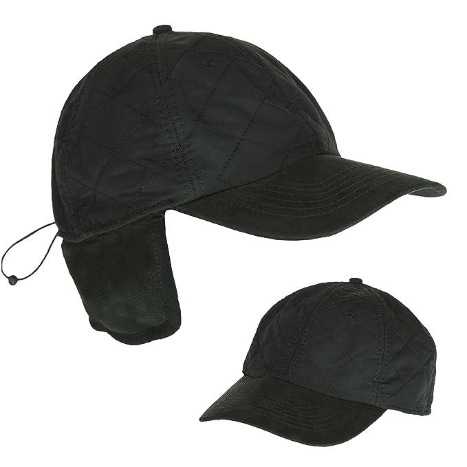 a0e3dea0119e3 Black Cold Weather Ball Cap with Earflap