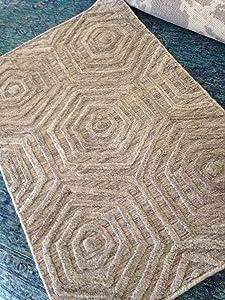Spectacular modern Artisan carpet Tibetan rug 2' x 3' woven contemporary design