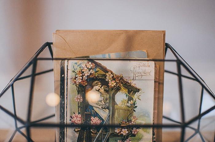 Amazon.com: Large Wedding Card Holder Glass Box, Mailbox, Geometric ...