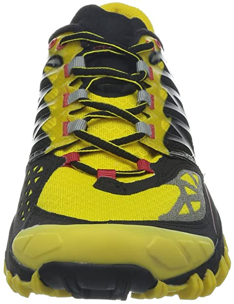 Amazon.com | La Sportiva Bushido Trail Running Shoes UK 9.5 Black Yellow | Running