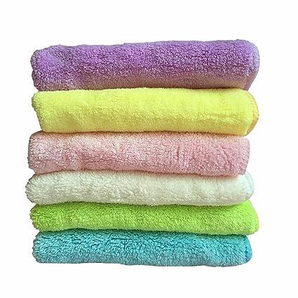Super absorbente suave de microfibra cara toalla para bebé adulto (12 x 12 en)