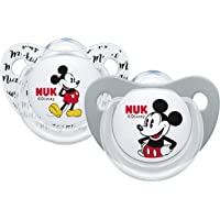 Nuk Mickey & Minnie - Chupetes fisiológicos de silicona, paquete de 2 [modelos surtidos]