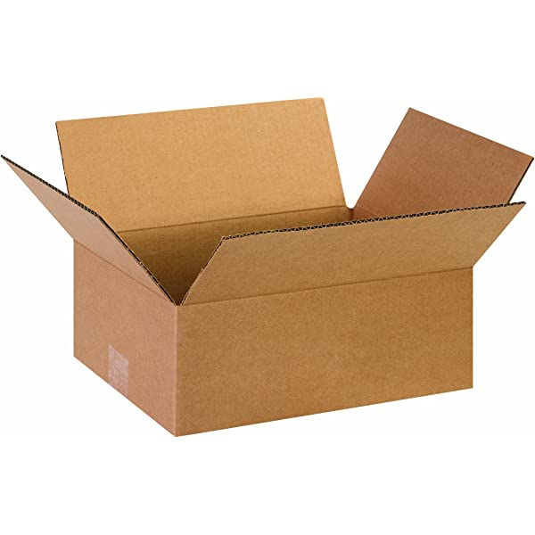 Packing and Moving Aviditi 13115 Flat Corrugated Cardboard Box 13 L x 11 W x 5 H for Shipping Pack of 25 Kraft