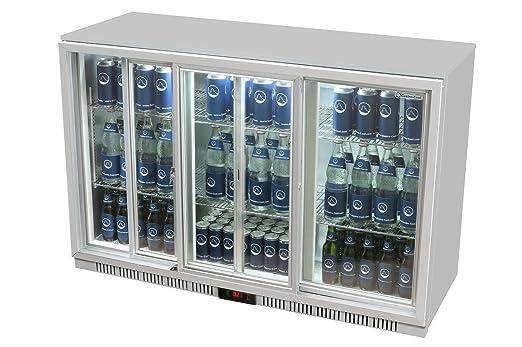 Kühlschrank Glastür : Glastür kühlschrank 90 x 135 x 52 cm silber getränkekühlschrank