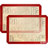 """Aprince Silicone Baking Mat Set of 2 Half Sheet (Thick & Large 11 5/8"""" x 16 1/2"""") / Non-Stick Cookie Sheet / Non Stick Silicon Liner - Professional Grade (2) Burgundy"""