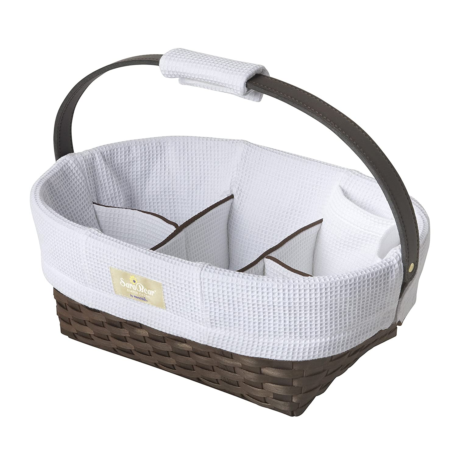 Amazon.com : Munchkin Portable Diaper Caddy, White : Nursery Storage ...