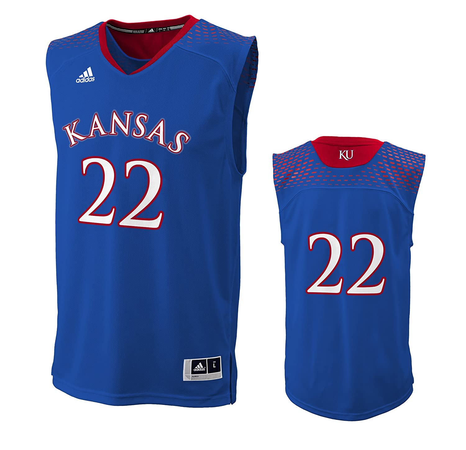 a52254d7732 ... get amazon andrew wiggins 22 kansas jayhawks adidas youth blue replica  jersey s c7ce7 96a30