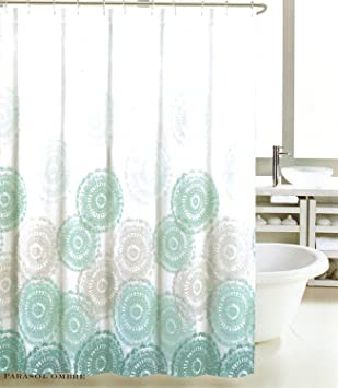grey and aqua shower curtain. Max Studio Home Shower Curtain  Parasol Ombre Teal Grey 72 quot Amazon com
