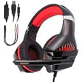 GM-5 ゲーミングヘッドセット 高音質 ヘッドホン ps4 ヘッドホン 有線 3.5mm LEDマイク付き 軽量 ヘッドセット重低音強化 伸縮可能 PC用ヘッドセット FPS pcゲーム 男女兼用