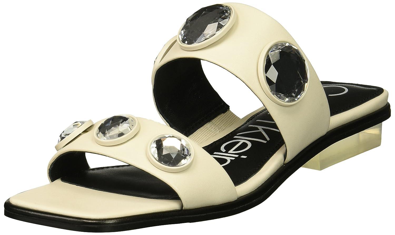 Calvin Klein Women's Kace Slide Sandal B078233DW8 8.5 B(M) US|Soft White