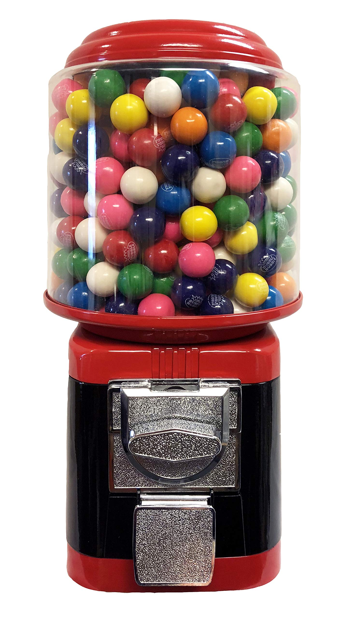 Wholesale Vending Products All Metal Bulk Vending Gumball Machine (Red/Black)