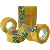 8 x Sellotape Original Golden Tape Roll Clear Non Static Easy Tear Tape 19mm x 33m - No Need for Scissors - Ideal for Home, Office or School Use.