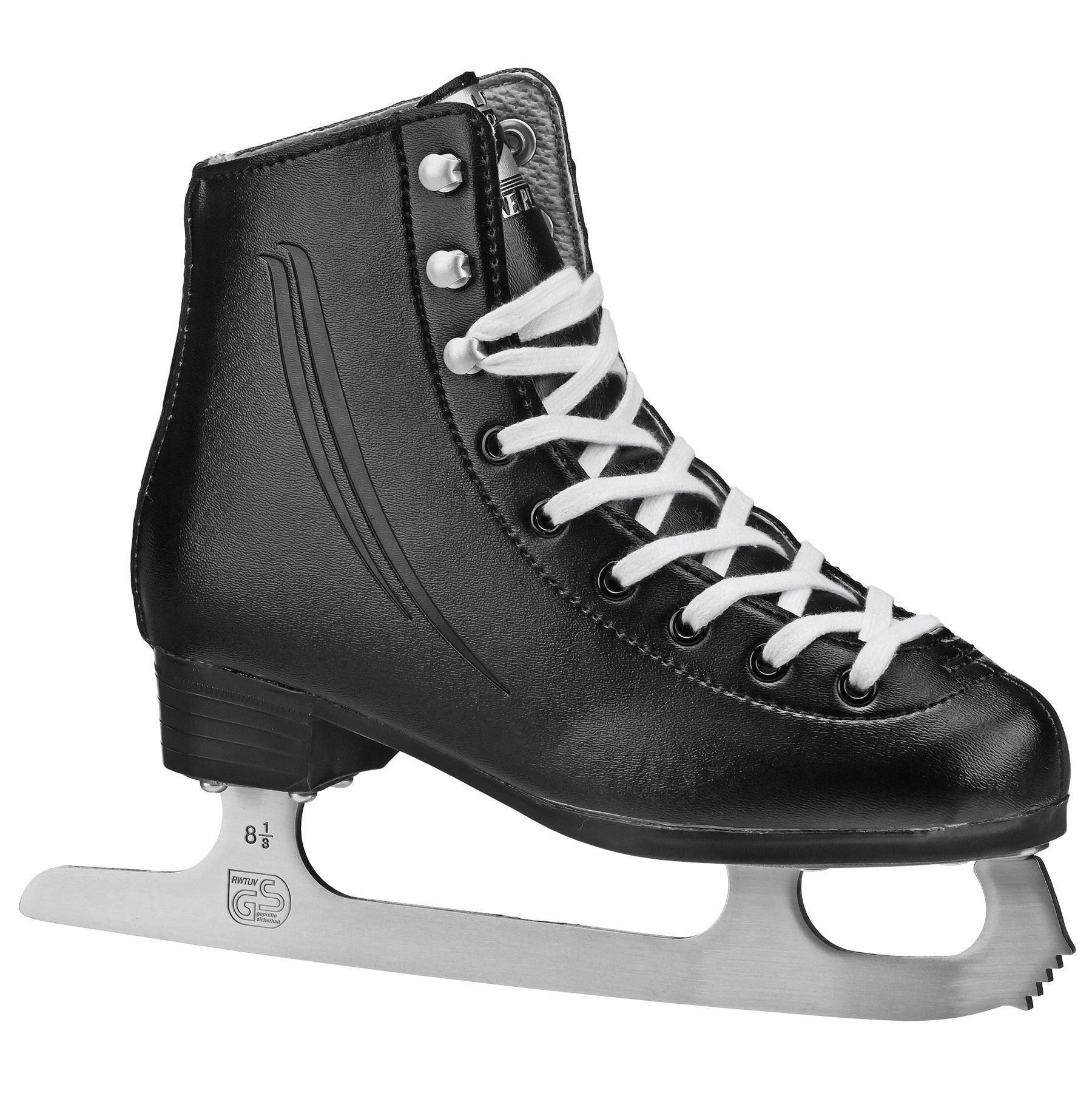Lake Placid Cascade Boys Figure Ice Skate, Black, Size Youth 13 by Lake Placid