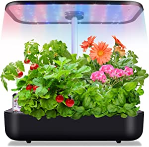 Hydroponics Growing System Newest 12Pods Herb Garden Kit Indoor Herb Garden Starter Kit Auto Smart Garden Planter LED Lighting Seeds Not Included