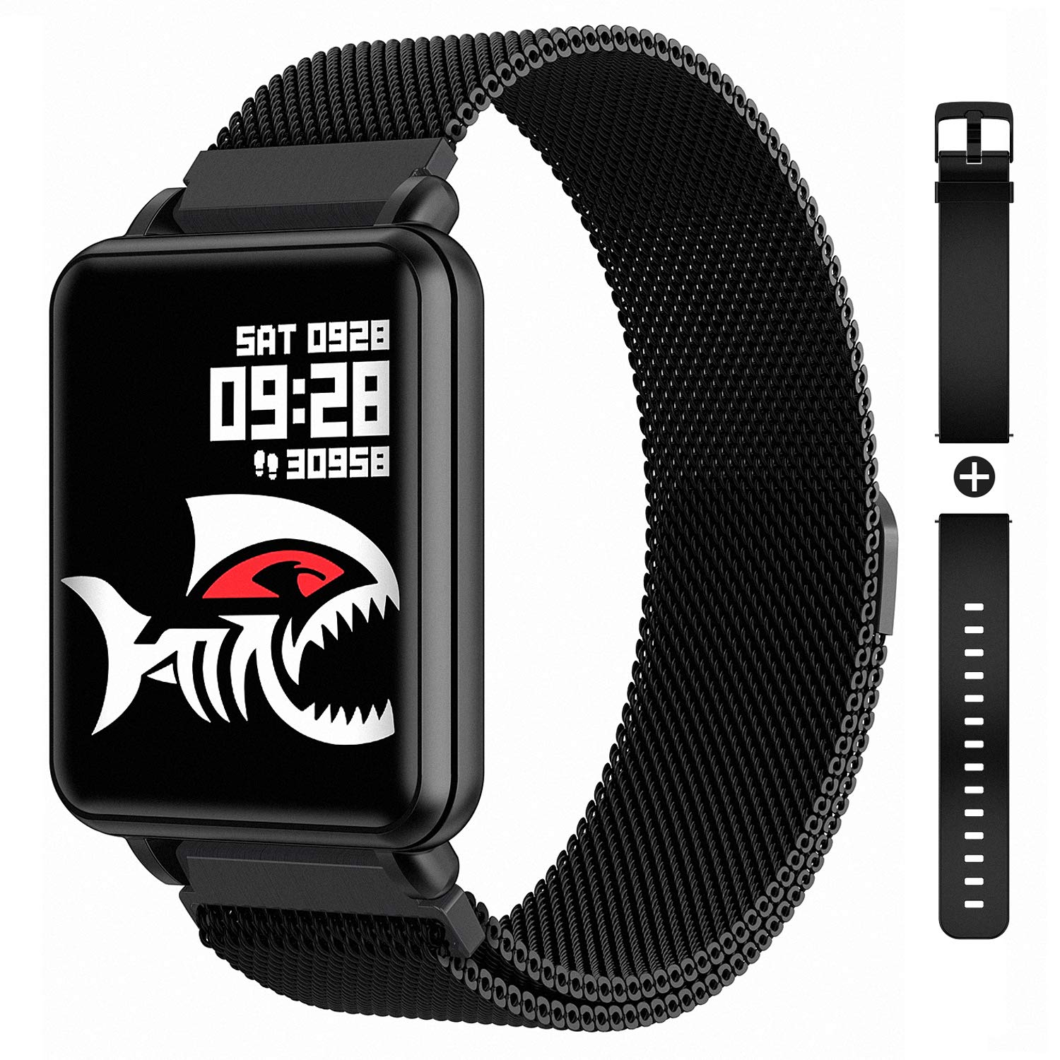 COLMI Smart Watch Full Touchscreen Smartwatch for Women Men, IP68 Waterproof Fitness Tracker Compatible with iPhone Andriod, Bluetooth Pedometer, Heart Rate and Blood Pressure Monitor by COLMI