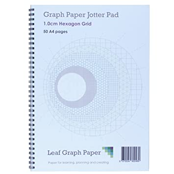A Cm Hexagon Graph Paper Notepad  Pages Board Backed Amazon