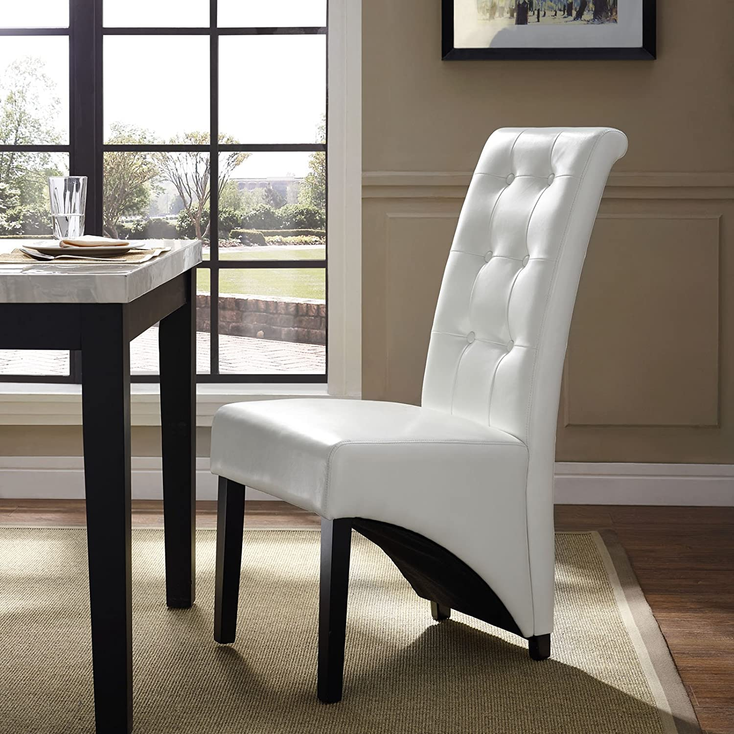 Modway Preside Dining Memory Foam Side Chair in White