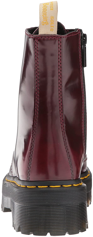Dr. Martens Women's V Jadon II Fashion Boot B06XBHMKQ5 10 Medium UK (12 US)|Cherry Red Cambridge Brush