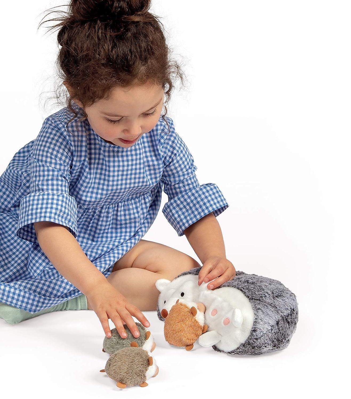 Manhattan Toy Nursing Nola Rabbit Stuffed Animal with 3 Bunnies