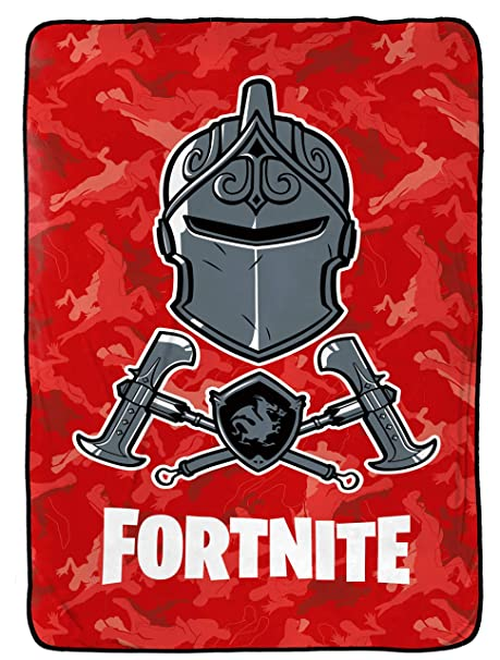 Jay Franco Fortnite Black Knight Red Camo Blanket Measures 62 X 90 Inches Kids Bedding Fade Resistant Super Soft Fleece Official Fortnite
