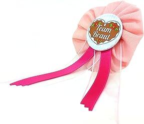 AnneSvea Orden - Team Braut Madl rosa pink Oktoberfest JGA Jungegellinnenabschied Button Geschenk