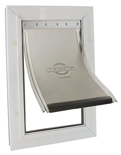 PetSafe Staywell - Puerta para mascotas con marco de aluminio, X-Large (660