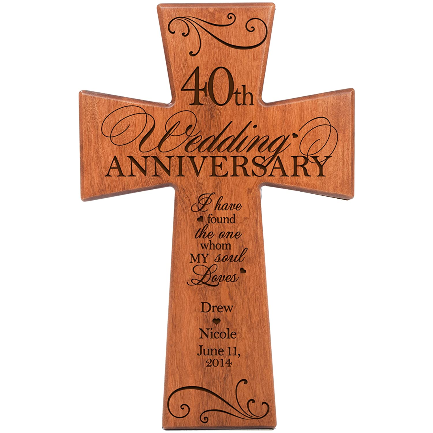 Amazon Personalized 40th Wedding Anniversary Gift For Couple