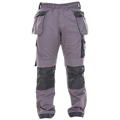 be97e0d9e2 Qaswa Mens Workwear Trousers Safety Cargo Combat Cordura Knee Reinforced  Utility Work Pant Grey