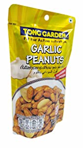 2 packs of Garlic Peanuts, Appetizingly Delicious Peanuts Snack from Tong Garden brand. Fit For Active Lifestyle. (70g/ pack)