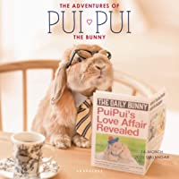 """Graphique The Adventures of Pui Pui the Bunny Wall Calendar - 16-Month 2021 Calendar, 12""""x12"""" w/3 Languages, 4-Month…"""