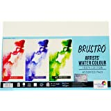 Brustro 100% Cotton Artists' Watercolour Paper 300 GSM 14 X 21 CM ( Assorted HP,CP,Rough- 3x4 each)