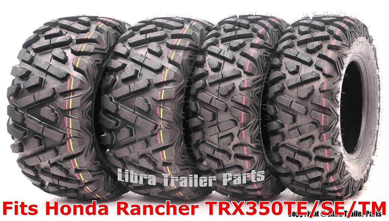 Set 4 WANDA ATV tires 24x8-12 /& 25x11-10 00-06 Honda Rancher TRX350TE//SE//TM