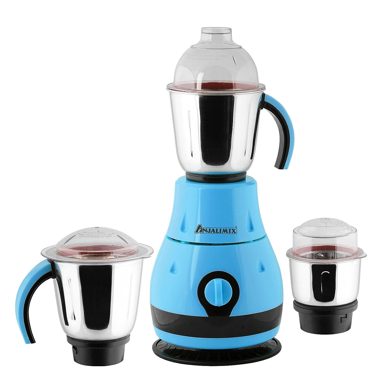 Buy ANJALIMIX Mixer Grinder DESIGNO 1000 WATTS With 3 Jars (Blue ...