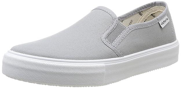 Victoria Slip on Lona - Zapatos, Unisex, Color Blanc (Blanco), Talla 41