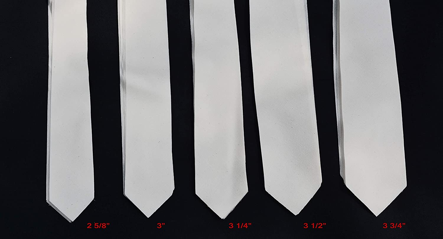 AC Ter Kuile Wool Necktie interfacing//Interlining Cotton 3 1//4 10 Pack of PRE-Cut 2 Layer Finest Available Made Netherlands