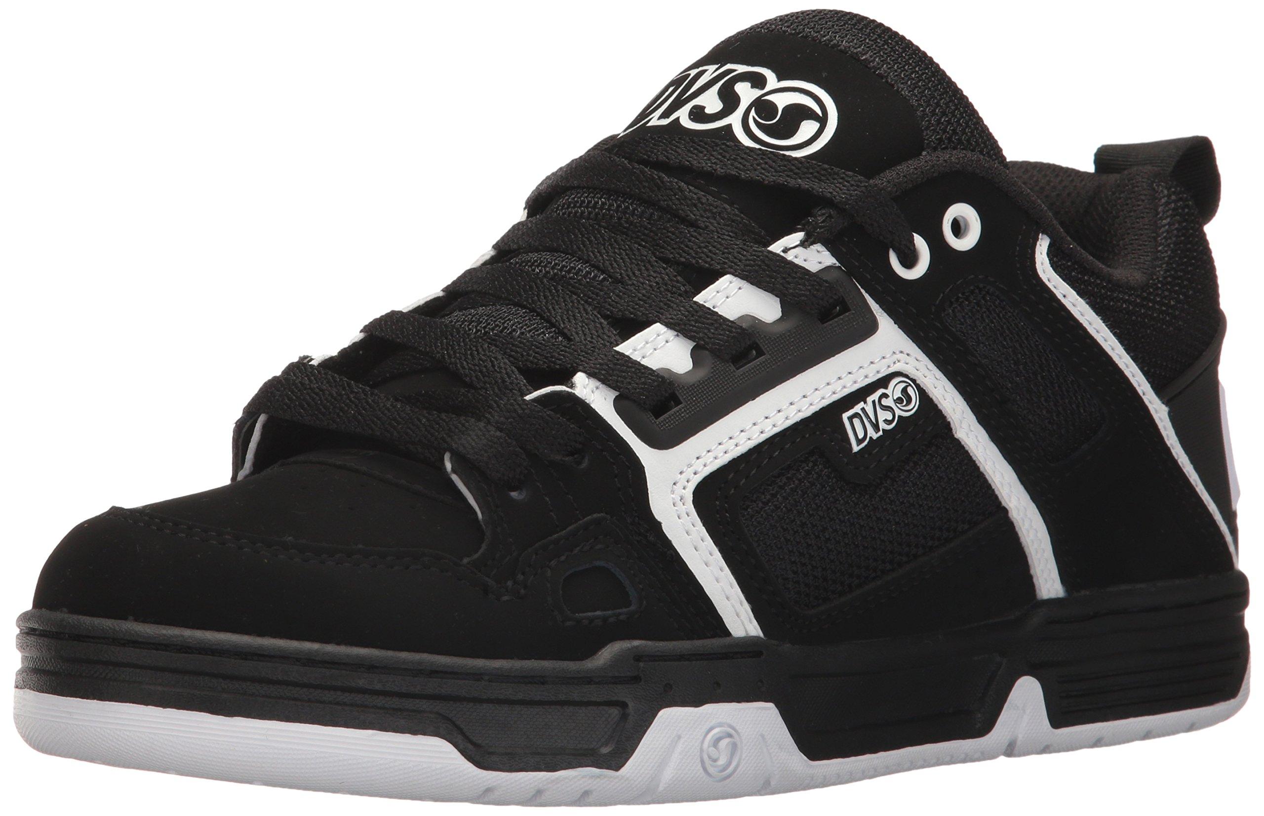 DVS Men's Comanche Skate Shoe, Black/White Nubuck, 12 Medium US by DVS (Image #1)