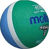 molten(モルテン) ドッジボール ライトドッジ 軽量2号球 緑×サックス SLD2MSK