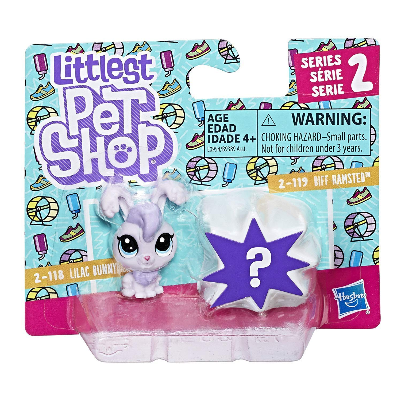 Littlest Pet Shop Lilac Bunnyton 2-118 /& Biff Hamsted 2-119 Hasbro Toys