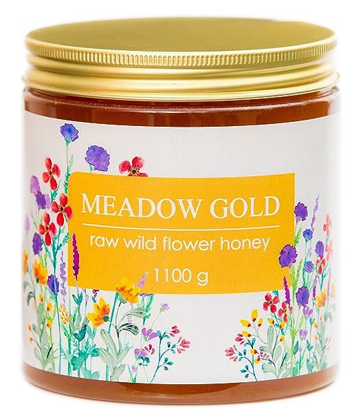 Meadow Gold Miel Pura Cruda - Flores Silvestres - Polyfloral - 1.1 ...
