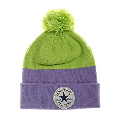 efeec52ec9ad Converse Girls Block Pom Pom Beanie in Lilac - One Size  Converse   Amazon.co.uk  Clothing