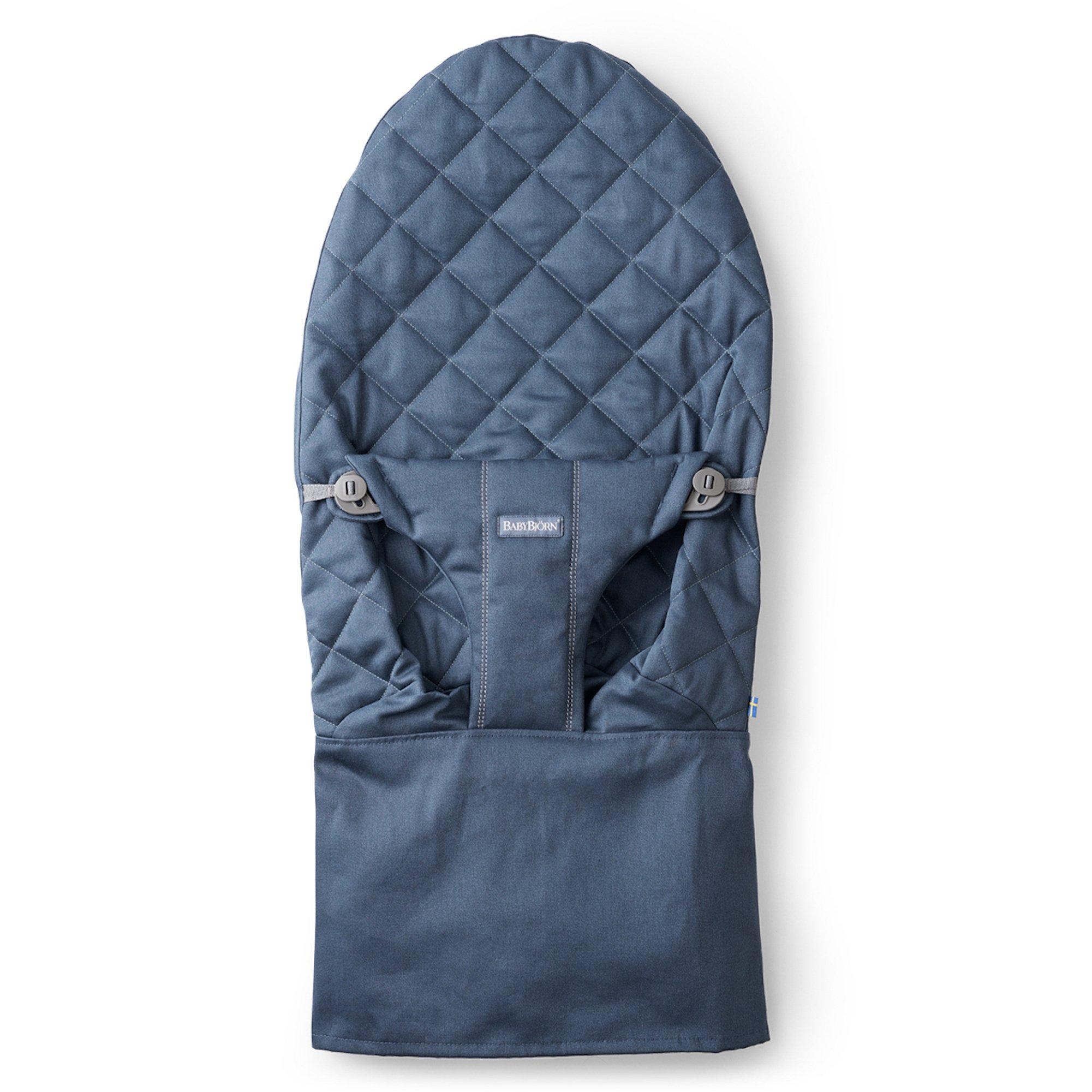 BABYBJORN BabyBjorn Fabric Seat for Bouncer, Midnight Blue, Cotton, Midnight Blue