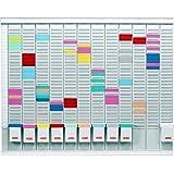 Nobo - Kit Tableau Planning à Fiches T Annuel 13 Colonnes 32 Fentes (66 Haut. x 80 Larg. cm)