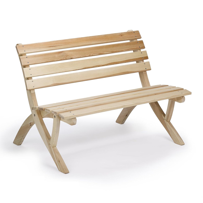 Ergonomische Gartenbank PANDA, aus massivem Holz der Nordischen ...