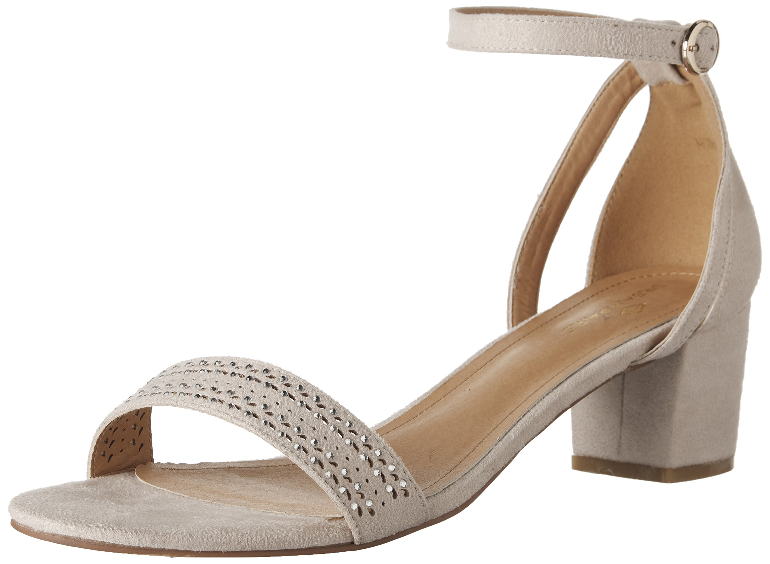 b11b873c85a2e DREAM PAIRS Women's Mona_05 Nude Fashion Block Heel Sandals Size 5.5 ...